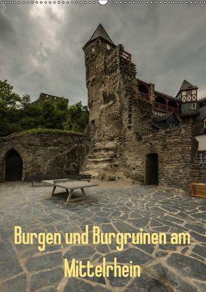 Burgen und Burgruinen am Mittelrhein (Wandkalender 2018 DIN A2 hoch) von Hess,  Erhard