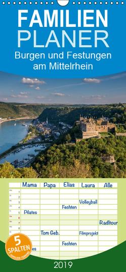 Burgen und Festungen am Mittelrhein – Familienplaner hoch (Wandkalender 2019 , 21 cm x 45 cm, hoch) von Hess,  Erhard, www.ehess.de