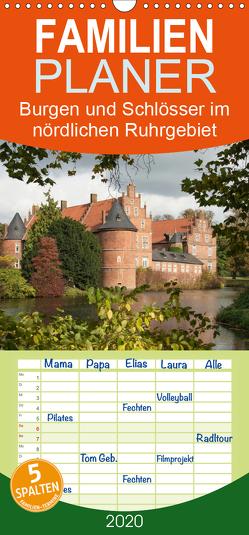 Burgen und Schlösser im nördlichen Ruhrgebiet – Familienplaner hoch (Wandkalender 2020 , 21 cm x 45 cm, hoch) von Emscherpirat