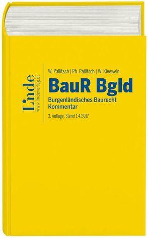 Burgenländisches Baurecht von Kleewein,  Wolfgang, Pallitsch,  Philipp, Pallitsch,  Wolfgang