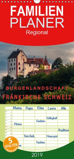 Burgenlandschaft Fränkische Schweiz – Familienplaner hoch (Wandkalender 2019 , 21 cm x 45 cm, hoch) von oldshutterhand