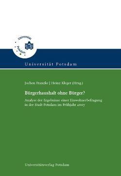 Bürgerhaushalt ohne Bürger? von Franzke,  Jochen, Kleger,  Heinz