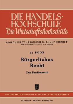 Bürgerliches Recht von Boor,  Hans Otto ˜deœ