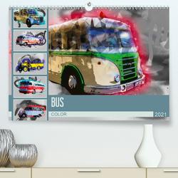 Bus Color (Premium, hochwertiger DIN A2 Wandkalender 2021, Kunstdruck in Hochglanz) von Meutzner,  Dirk