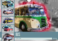 Bus Color (Wandkalender 2019 DIN A4 quer) von Meutzner,  Dirk