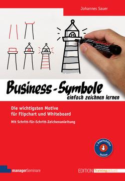 Business-Symbole einfach zeichnen lernen von Sauer,  Johannes