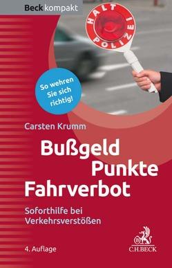 Bußgeld, Punkte, Fahrverbot von Krumm,  Carsten