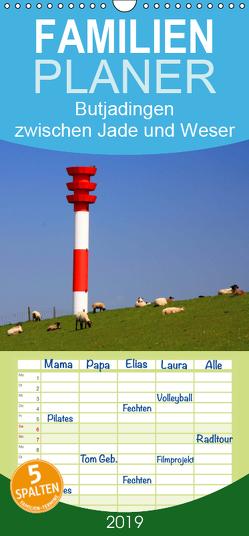 Butjadingen Impressionen zwischen Jade und Weser – Familienplaner hoch (Wandkalender 2019 , 21 cm x 45 cm, hoch) von Lehmann,  Steffani