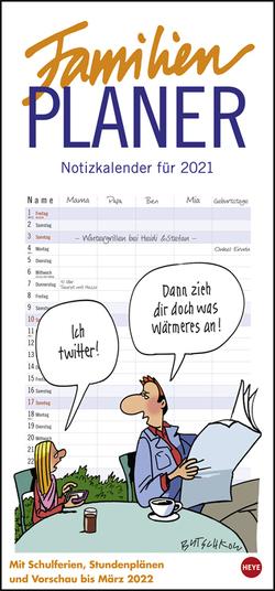 Butschkow: Familienplaner Kalender 2021 von Butschkow,  Peter, Heye