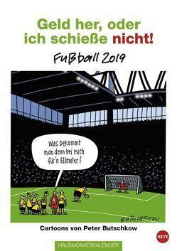 Butschkow Fußball Halbmonatskalender – Kalender 2019 von Butschkow,  Peter, Heye