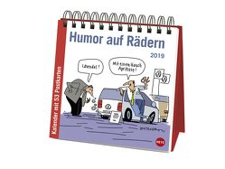 Butschkow Humor auf Rädern Aufstell-Postkartenkalender – Kalender 2019 von Butschkow,  Peter, Heye