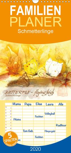 BUTTERFLY – flying high, Schmetterlinge – Familienplaner hoch (Wandkalender 2020 , 21 cm x 45 cm, hoch) von Floner,  Sabine
