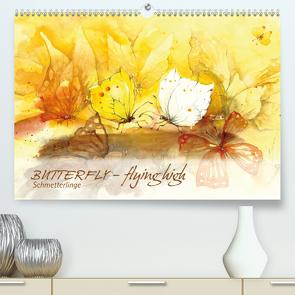 BUTTERFLY – flying high, Schmetterlinge (Premium, hochwertiger DIN A2 Wandkalender 2021, Kunstdruck in Hochglanz) von Floner,  Sabine