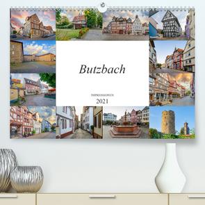 Butzbach Impressionen (Premium, hochwertiger DIN A2 Wandkalender 2021, Kunstdruck in Hochglanz) von Meutzner,  Dirk