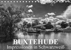 Buxtehude Impressionen in Schwarzweiß (Tischkalender 2018 DIN A5 quer) von Schwarz,  Wolfgang