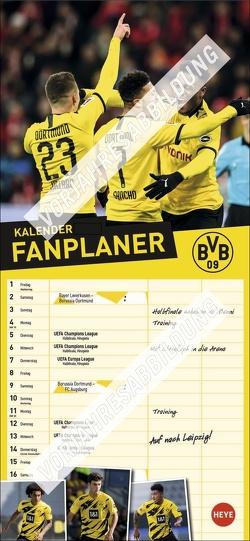 BVB Fanplaner Kalender 2022 von Heye