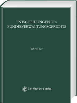 BVerwGE – Entscheidungen des Bundesverwaltungsgerichts