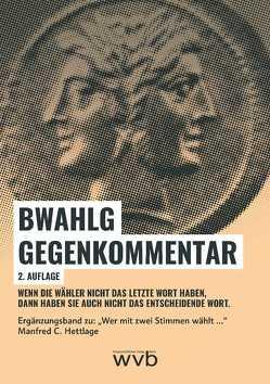 BWahlG Gegenkommentar von Hettlage,  Manfred C.