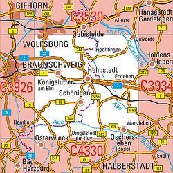 C3930 Helmstedt Topographische Karte 1 : 100 000