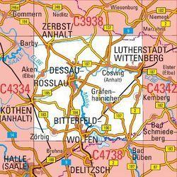 C4338 Dessau-Roßlau Topographische Karte 1 : 100 000