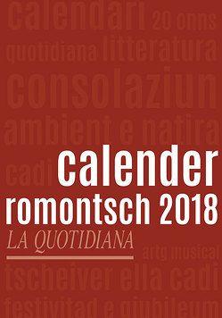 Calender Romontsch 2018 von Somedia Production