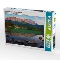 CALVENDO Puzzle Abendstimmung am Eibsee, Zugspitze 2000 Teile Lege-Größe 90 x 67 cm Foto-Puzzle Bild von SusaZoom