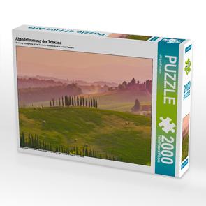 CALVENDO Puzzle Abendstimmung der Toskana 2000 Teile Lege-Größe 90 x 67 cm Foto-Puzzle Bild von Jürgen Feuerer