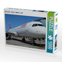 CALVENDO Puzzle Airbus A321 – HB-IOF – MSN 541 – ZRH 1000 Teile Lege-Größe 64 x 48 cm Foto-Puzzle Bild von Arie Wubben