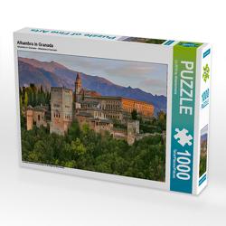CALVENDO Puzzle Alhambra in Granada 1000 Teile Lege-Größe 64 x 48 cm Foto-Puzzle Bild von (c) 2019 by Atlantismedia