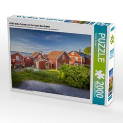 CALVENDO Puzzle Alte Fischerhäuser auf der Insel Sandhamn 2000 Teile Lege-Größe 90 x 67 cm Foto-Puzzle Bild von Christian Müringer