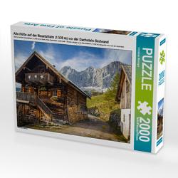 CALVENDO Puzzle Alte Hütte auf der Neustattalm (1.530 m) vor der Dachstein-Südwand 2000 Teile Lege-Größe 90 x 67 cm Foto-Puzzle Bild von Christian Müringer