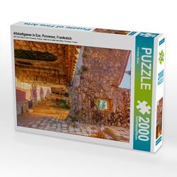 CALVENDO Puzzle Altstadtgasse in Eze, Provence, Frankreich 2000 Teile Lege-Größe 67 x 90 cm Foto-Puzzle Bild von Christian Müller