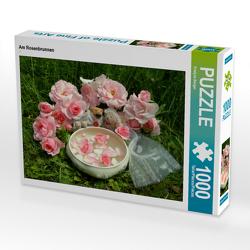 CALVENDO Puzzle Am Rosenbrunnen 1000 Teile Lege-Größe 64 x 48 cm Foto-Puzzle Bild von Evelyne Berger
