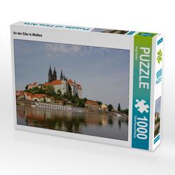 CALVENDO Puzzle An der Elbe in Meißen 1000 Teile Lege-Größe 64 x 48 cm Foto-Puzzle Bild von Birgit Seifert