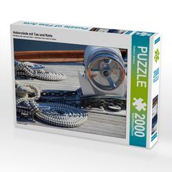 CALVENDO Puzzle Ankerwinde mit Tau und Kette 2000 Teile Lege-Größe 90 x 67 cm Foto-Puzzle Bild von Steffani Lehmann