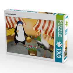 CALVENDO Puzzle Auf dem Marktplatz 1000 Teile Lege-Größe 64 x 48 cm Foto-Puzzle Bild von Stephanie Langowski
