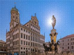 CALVENDO Puzzle Augsburger Rathaus 2000 Teile Lege-Größe 90 x 67 cm Foto-Puzzle Bild von Norbert Liesz