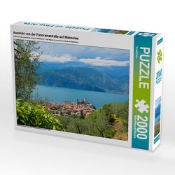CALVENDO Puzzle Aussicht von der Panoramastraße auf Malcesine 2000 Teile Lege-Größe 90 x 67 cm Foto-Puzzle Bild von SusaZoom