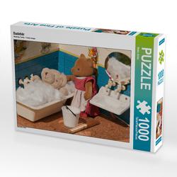 CALVENDO Puzzle Badebär 1000 Teile Lege-Größe 64 x 48 cm Foto-Puzzle Bild von Meike Bölts