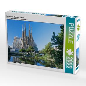 CALVENDO Puzzle Barcelona, Sagrada Familia 2000 Teile Lege-Größe 90 x 67 cm Foto-Puzzle Bild von N N