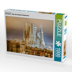 CALVENDO Puzzle Barcelona – Über den Dächern Kataloniens 1000 Teile Lege-Größe 64 x 48 cm Foto-Puzzle Bild von Markus Nawrocki