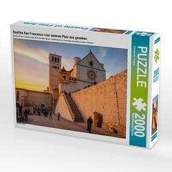CALVENDO Puzzle Basilika San Francesco vom unteren Platz aus gesehen 2000 Teile Lege-Größe 90 x 67 cm Foto-Puzzle Bild von Alessandro Tortora
