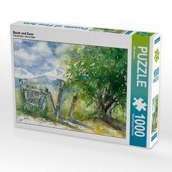 CALVENDO Puzzle Baum und Zaun 1000 Teile Lege-Größe 64 x 48 cm Foto-Puzzle Bild von Jitka Krause von Krause,  Jitka