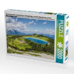 CALVENDO Puzzle Beeindruckende Landschaft des Totengebirges und dem Speichersee auf der Höss in Hinterstoder 2000 Teile Lege-Größe 90 x 67 cm Foto-Puzzle Bild von Markus Schieder