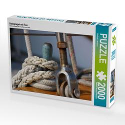 CALVENDO Puzzle Belegnagel mit Tau 2000 Teile Lege-Größe 90 x 67 cm Foto-Puzzle Bild von Steffani Lehmann