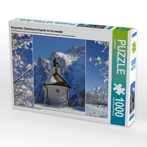 CALVENDO Puzzle Bergwinter Oberbayern Kapelle im Karwendel 1000 Teile Lege-Größe 64 x 48 cm Foto-Puzzle Bild von SusaZoom