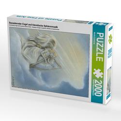 CALVENDO Puzzle Bezaubernder Engel und himmlische Sphärenmusik 2000 Teile Lege-Größe 67 x 90 cm Foto-Puzzle Bild von Marita Zacharias