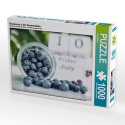 CALVENDO Puzzle Blaubeeren in der Sommerküche 1000 Teile Lege-Größe 64 x 48 cm Foto-Puzzle Bild von Tanja Riedel