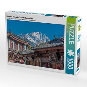 CALVENDO Puzzle Blick auf den Jade-Drachen-Schneeberg 1000 Teile Lege-Größe 64 x 48 cm Foto-Puzzle Bild von Peter Lachenmayr