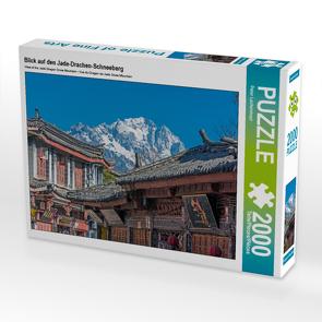 CALVENDO Puzzle Blick auf den Jade-Drachen-Schneeberg 2000 Teile Lege-Größe 90 x 67 cm Foto-Puzzle Bild von Peter Lachenmayr